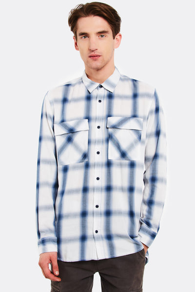 Blue Checkered Cotton Shirt