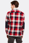 Red Checkered Jacket With Faux Fur Lining
