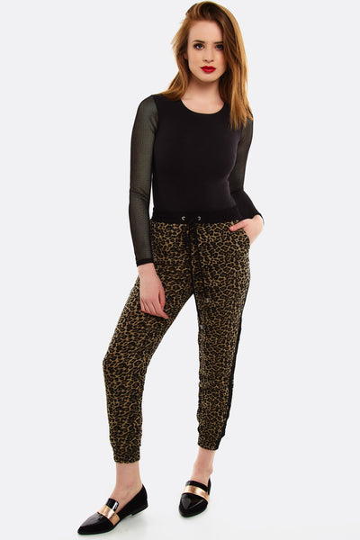 Brown Leopard Print Trousers