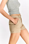 Beige Cotton Shorts