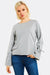 Light Grey Sweatshirt With Bell Sleeves