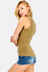 Khaki Textured Top