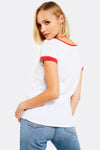 White Cotton T-Shirt With Christmas Print