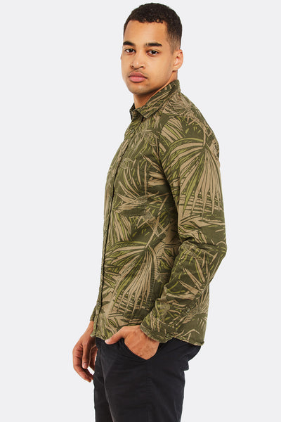 Military Green Cotton Shirt