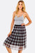 Multicolour Checkered Midi Skirt