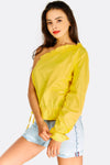Yellow Cotton One Sleeve Blouse