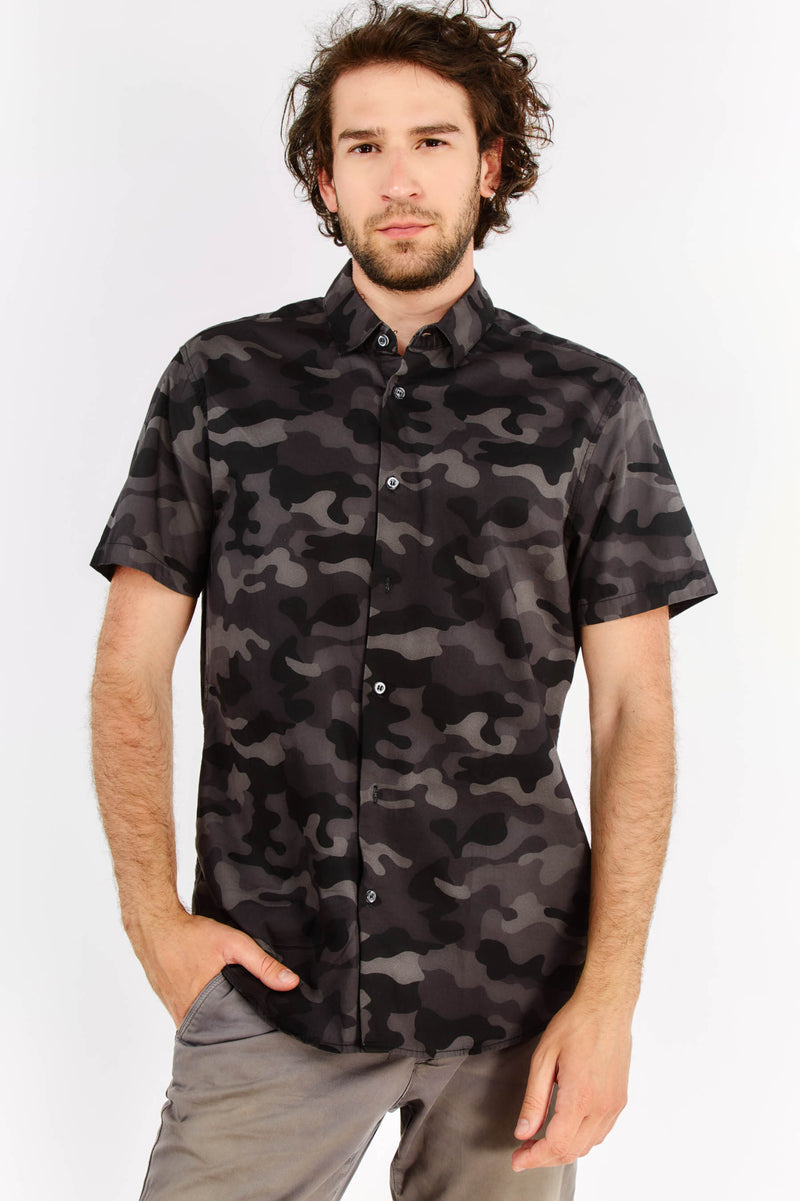 Black Patterned Shirt