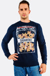 navy printed sweatshirt