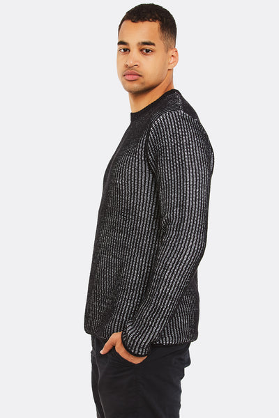 Black Textured Jumper
