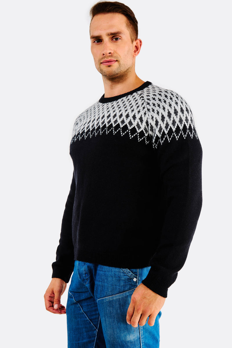 black fine knit Jumper