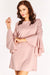 Pink Wide Sleeve Shift Dress