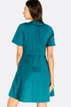 Dark Turquoise Flared Dress