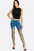 Light Blue Skinny Jeans With Gold Aspect