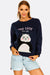 Navy Sweatshirt With Panda Design