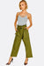 Green Wide Leg Cotton Trousers