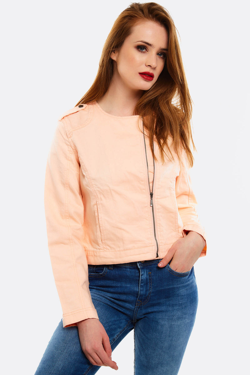 Pink Jacket With Side Pockets