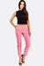 Pink Cropped Trousers With Bow Details