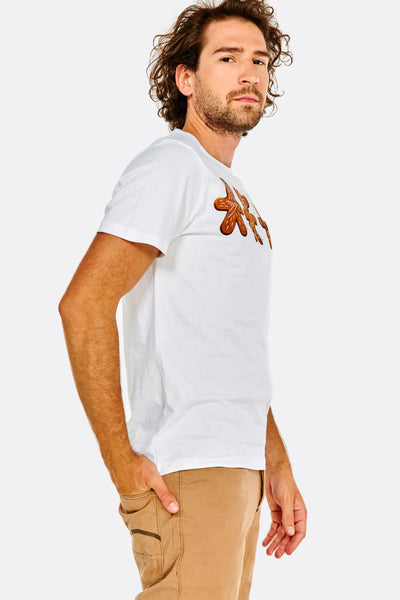 white printed cotton t-shirt
