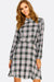 Grey Checkered Shirt Dress
