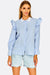 Light Blue Shirt With Ruffles