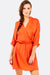 Orange Dress With Elastic Waist