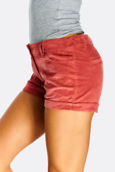 Brown Shorts With Pockets