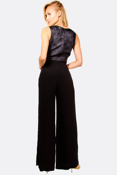 Black V-Neck Jumpsuit