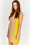Shift Dress with quirky contrast colour side panel inserts