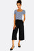 Black Wide Leg Crop Trousers