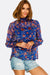 Blue Patterned Blouse