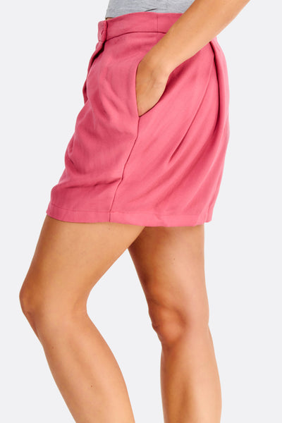 Pink Skirt With Side Pockets