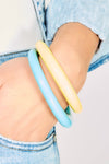 Yellow and Blue Bracelets