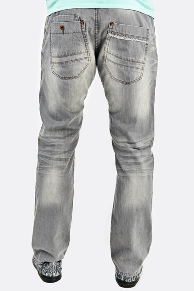 Light Grey Jeans With Faded Aspect