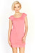 Pink Round Neck T-Shirt Dress