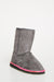 Light Grey Faux Suede Short Boots