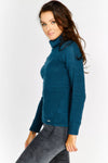 Blue Cowl Neck Jumper