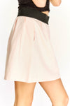 Pink Pocket Skater Skirt