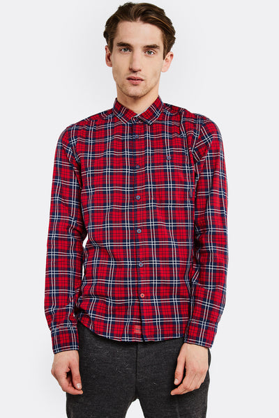 Red Checked Cotton Shirt