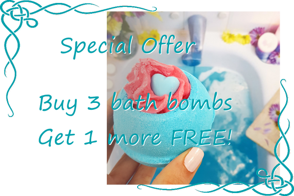 Special Offer - Buy 3 bath bombs get 1 more free!