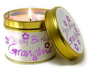Happy Birthday Grandma Scented Candle Tin