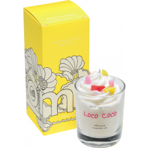 Loco Coco Piped Glass Candle