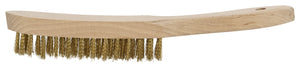 Brass Wire Brush with Wood Handle 280mm 4 Row - Blacksmith Source Tool Company