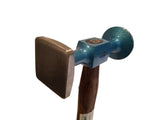 Auto Body Planishing Bumping Hammer Large Round Checked Square Smooth Faces 2524812 - Blacksmith Source Tool Company