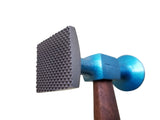 Auto Body Bumping Hammer Shrinking Large Thin Round Smooth Square Checked Faces 2525002 - Blacksmith Source Tool Company