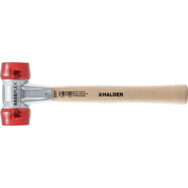 Baseplex Mallet 3906 Soft Face Mallet with Red Cellulose Acetate Insert Face - Blacksmith Source Tool Company