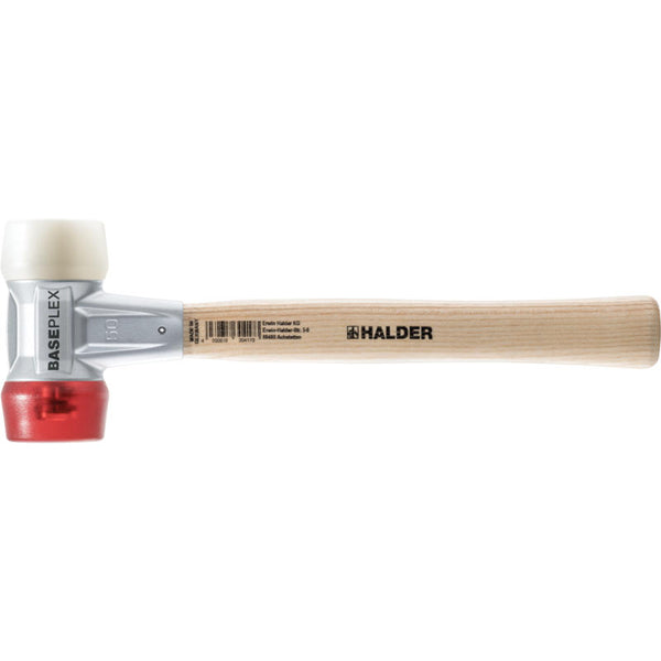 Baseplex Mallet Soft Face Mallet with Red Cellulose Acetate and White Nylon Inserts - Blacksmith Source Tool Company