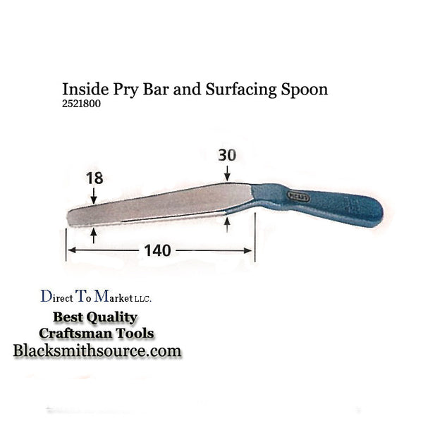 Inside Pry Bar Surfacing Spoon Small Pattern 2521800 Bumping Tool - Blacksmith Source Tool Company