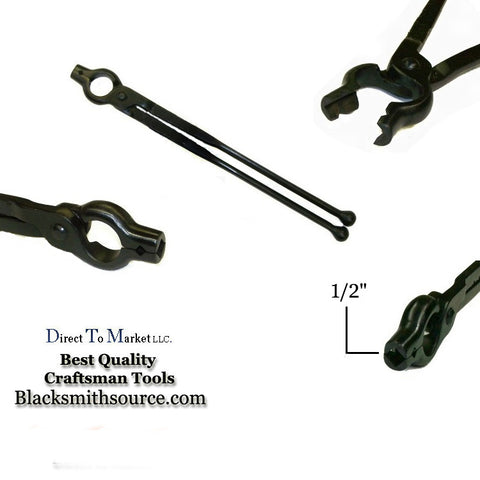 "Blacksmith V-Bit Bolt 1/2"" Forge Tongs - Blacksmith Source Tool Company"