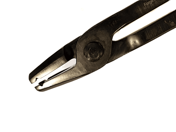 "Hollow Tip 1/2""  Straight V-Bit Forge Tongs - Blacksmith Source Tool Company"