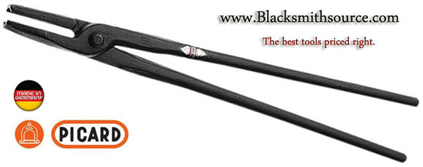 004800 Round Hollow Nose Blacksmith Tongs by Picard - Blacksmith Source Tool Company